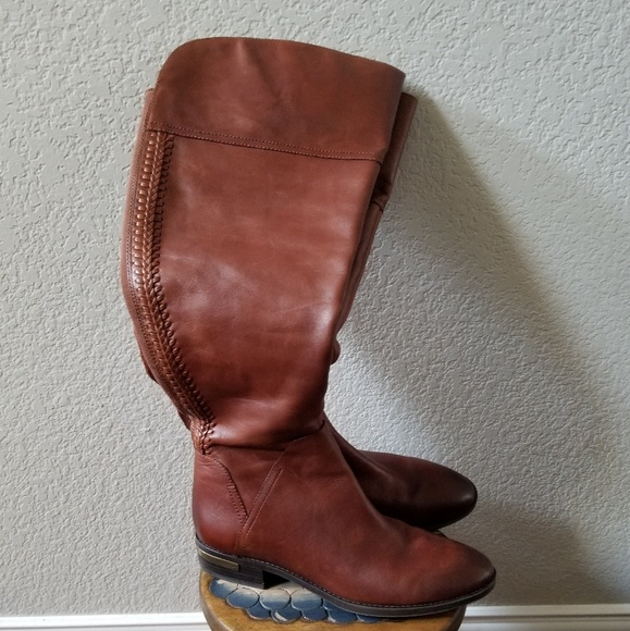 6540ceb67aa Vince Camuto Leather Tall Boot with Wide Calf